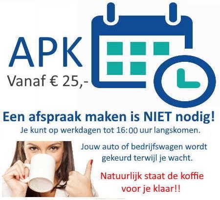 APK keuring in Haarlem zonder afspraak